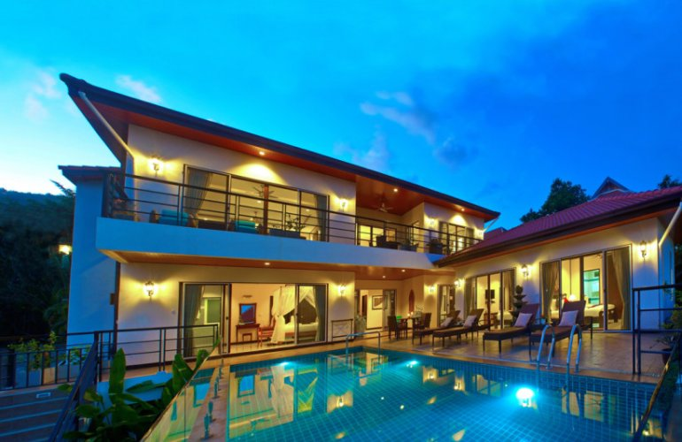 4 Bedroom Sea View Villa with Pool at Chaweng Ko Samui