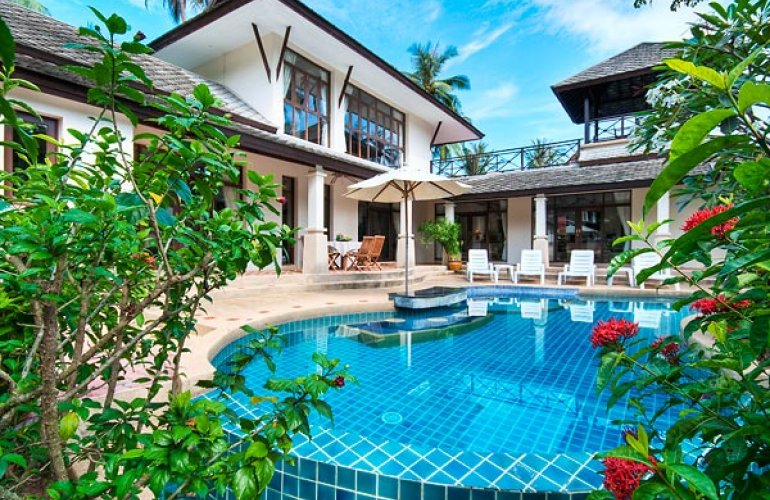 4 bedroom garden villa with private pool at bang por koh samui for Garden pool villa outrigger koh samui