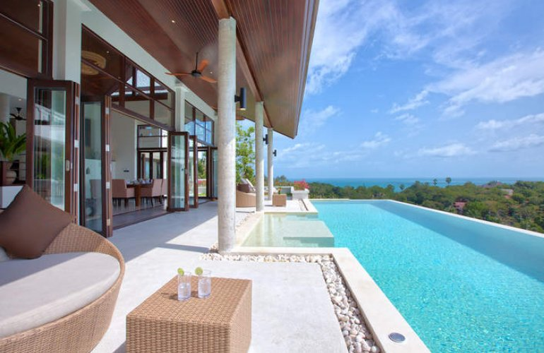 2 Bedroom Option Sea View  Villa with Private Pool at Laem Sett Koh Samui Thailand
