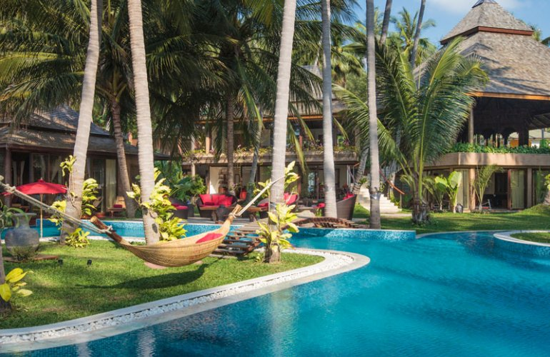10 Bedroom Beach Front Luxury Villa with Private Pool at Laem Sor Koh Samui