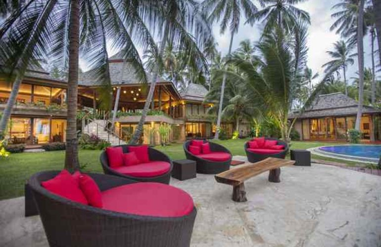 26 Bedroom Beach Front Luxury Villa with Private Pool at Laem Sor Koh Samui