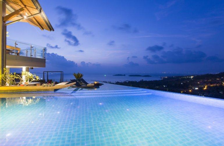 8 Bedroom Sea View Villa with Pool at Choeng Mon Ko Samui Thailand