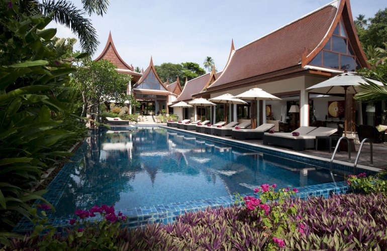 5 Bedroom Beach Front Villa with Pool at Lipa Noi Ko Samui Thailand
