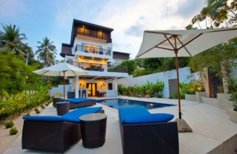 3 bedroom garden villa with private pool at plai laem koh for Garden pool villa outrigger koh samui