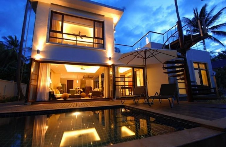 3 Bedroom Luxury Garden Villa with Private Pool at Bang Por Koh Samui