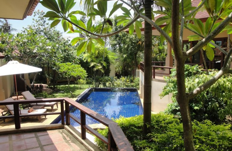 Three Bedroom Garden Villa with Pool at Choeng Mon Ko Samui