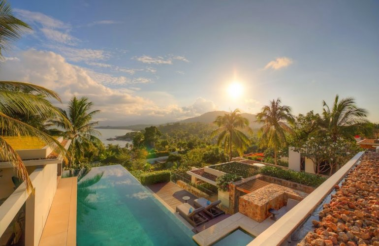 4 Bedroom Sea View Villa with Pool at Choeng Mon Ko Samui Thailand