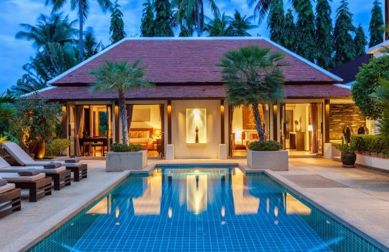 3 Bedroom Garden Villa with Private Pool at Bangrak Koh Samui