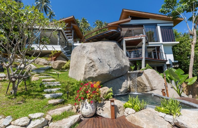 3 Bedroom Sea View Villa with Plunge Pool at Laem Sett Koh Samui