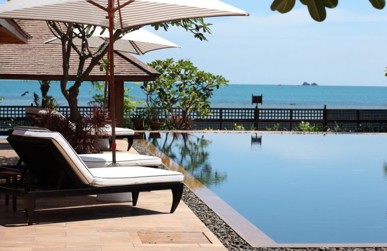 3 Bedroom Option Beach Front Villa with Private Pool at Laem Sor Koh Samui Thailand