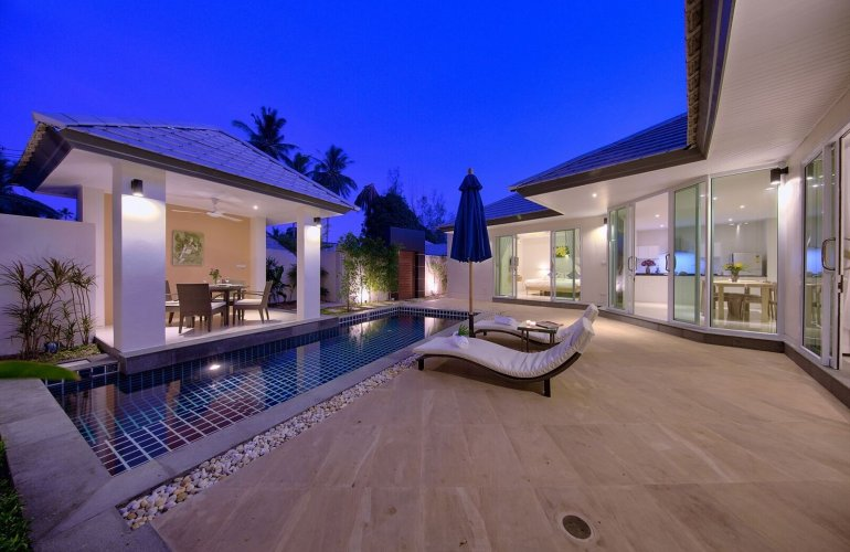 2 Bedroom Garden View Villa with Pool at Lipa Noi Koh Samui