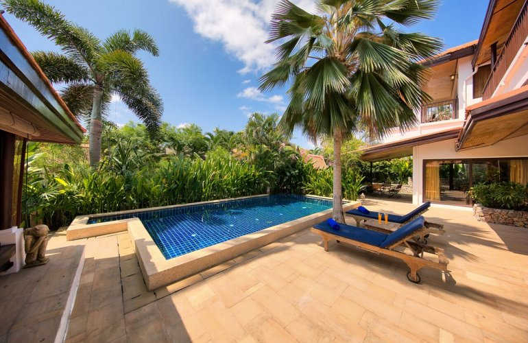 3 bedroom garden villa with luxury pool at laem sett koh samui for Garden pool villa outrigger koh samui
