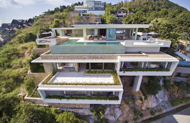 5 Bedroom Sea View Villa with Infinity Pool at Chaweng Koh Samui
