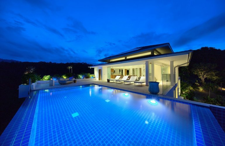 5 Bedroom Sea View Villa with Private Pool at Bophut Hills Ko Samui