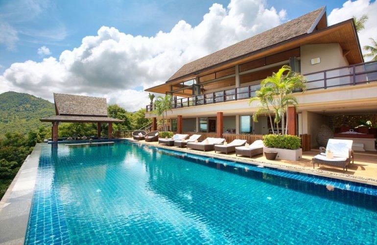 5 Bedroom Sea View Villa with Private Pool at Bophut Samui