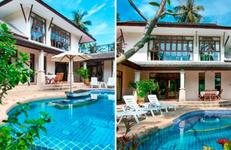 One 3 and One 4 Bedroom Side by Side Villas at Bang Por Koh Samui