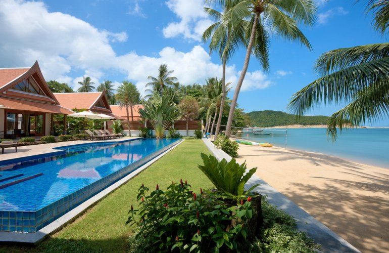 5 Bedroom Beach Front Villa with Pool at Lipa Noi Samui