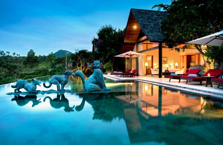 4 Bedroom Sea View Villa with Infinity Pool at Bophut Koh Samui