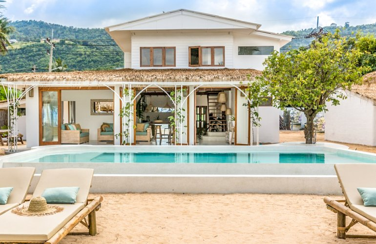 3 Bedroom Beach Front Villa with Pool at Bang Por Koh Samui