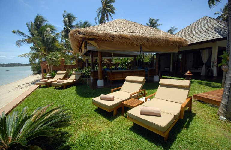6 Bedroom Beach Front Villa with Private Pool at Plai Laem, Koh Samui