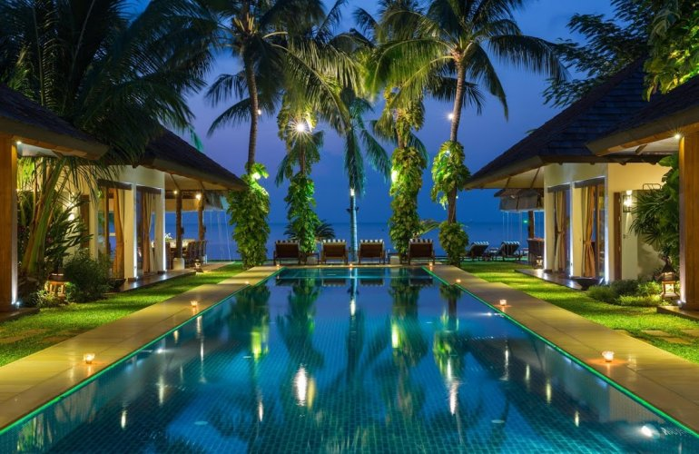 6 Bedroom Beach Front Villa with Private Pool at Plai Laem Koh Samui