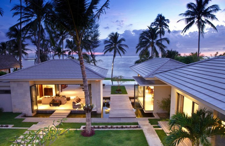 5 Bedroom Option Luxury Beach Front Villa with Private Pool at Lipa Noi Koh Samui
