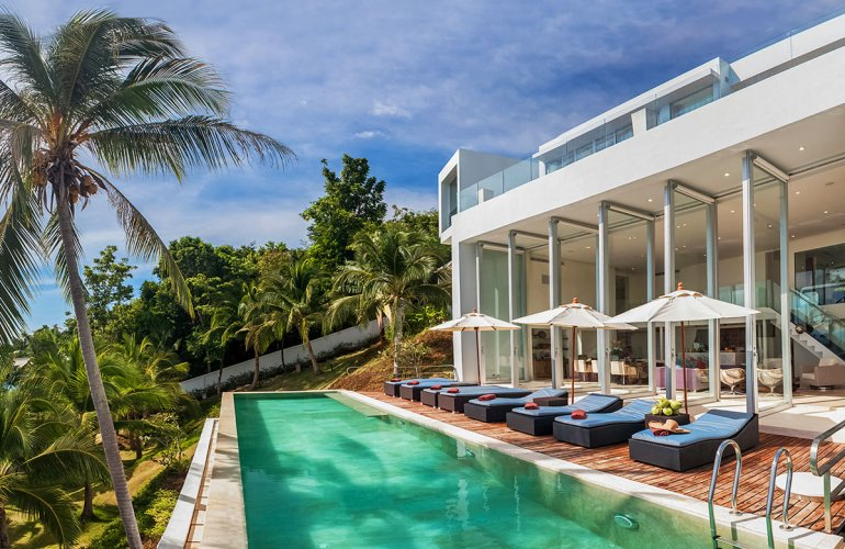 4 Bedroom Beach Front Villa with Private Pool at Taling Ngam Koh Samui