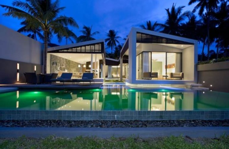 2 Bedroom Option Beach Front Villa with Private Pool at Bang Por Koh Samui Thailand