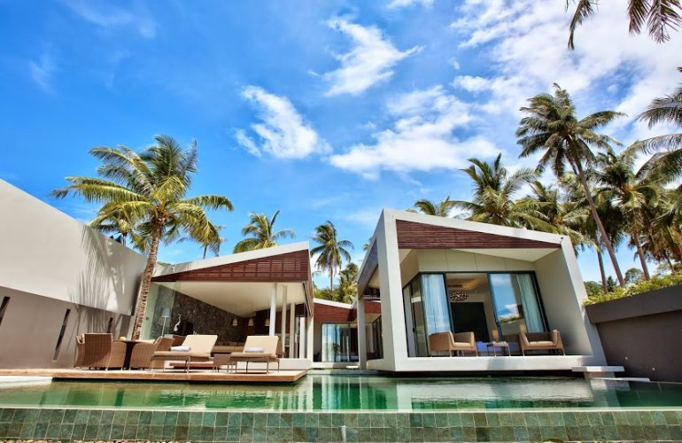 2 Bedroom Option Beach Front Villa with Private Pool at Bang Por Ko Samui Thailand