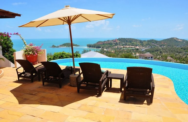4 Bedroom Sea View Villa with Private Pool at Choeng Mon Koh Samui