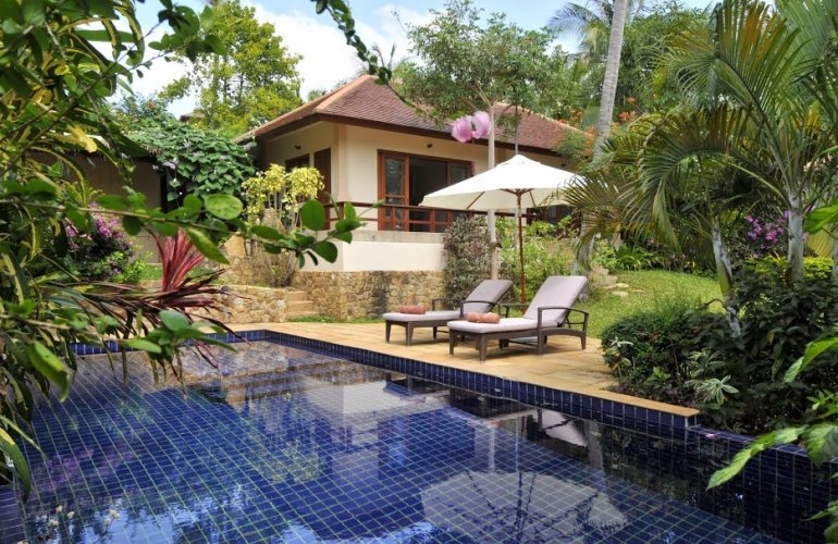 3 Bedroom Garden View Villa with Private Pool at Choeng Mon Koh Samui