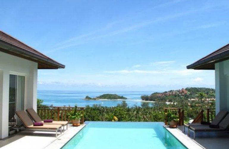 3 Bedroom Sea View Villa with Private Pool at Choeng Mon Ko Samui
