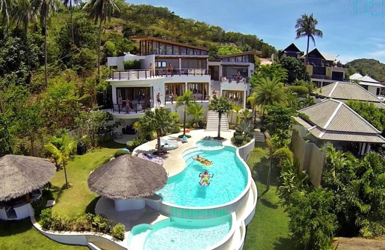 4 Bedroom Sea View Villa with Private Pool at Bophut Koh Samui Thailand