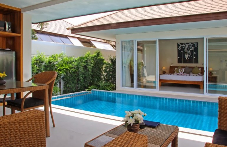 1 bedroom garden villa with private pool at plai laem koh for Garden pool villa outrigger koh samui