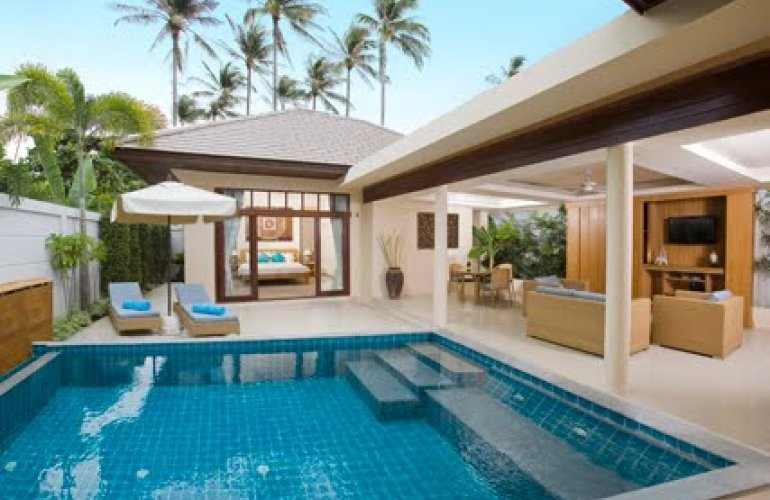 2 bedroom garden villa with private pool at plai laem koh for Garden pool villa outrigger koh samui