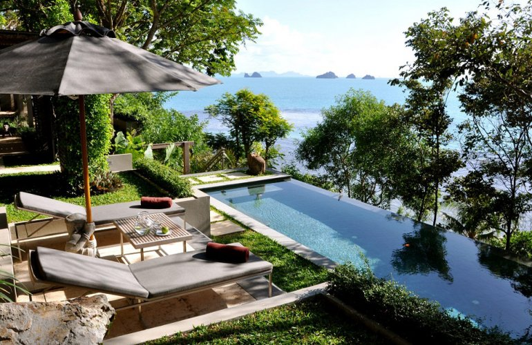 1 Bedroom Option Beach Front Villa with Pool at Taling Ngam Koh Samui Thailand