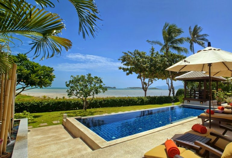 3 Bedroom Beach Front Villa with Private Pool at Plai Laem Koh Samui