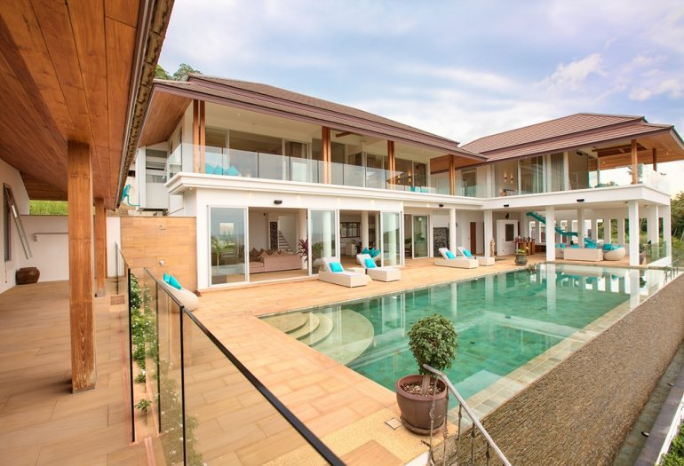 6 Bedroom Sea View Villa with Pool at Bang Por Koh Samui