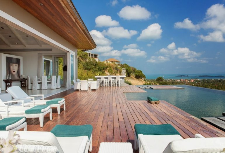 5 Bedroom Sea View Villa with Private Pool at Choeng Mon Samui
