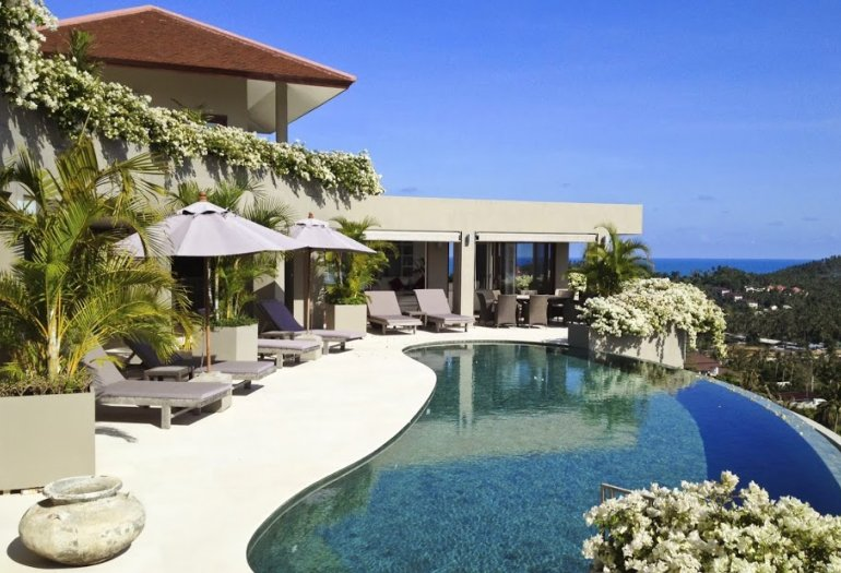 5 Bedroom Sea View Villa with Pool at Choeng Mon Koh Samui