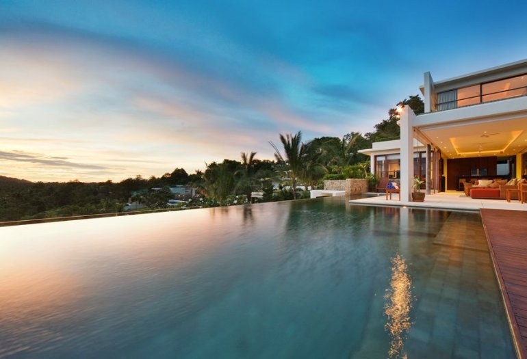 4 Bedroom Sea View Villa with Pool at Choeng Mon Ko Samui
